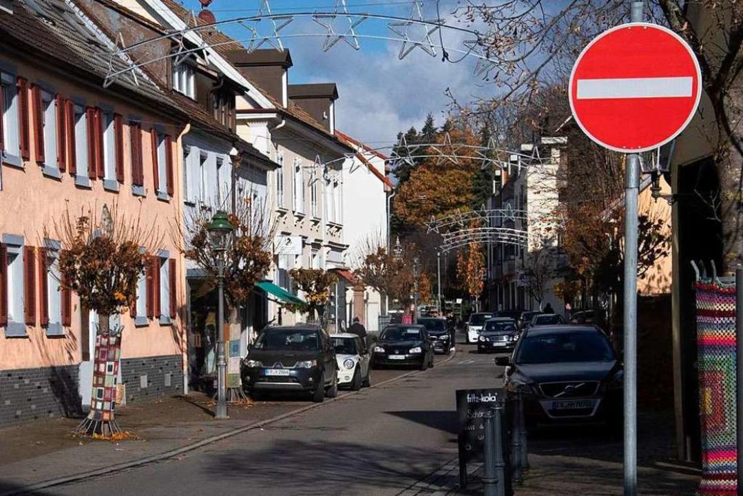 Noch ist hier am Lindle die Einfahrt s...dfahrer beide Richtungen erlaubt sind.  | Foto: Volker Münch