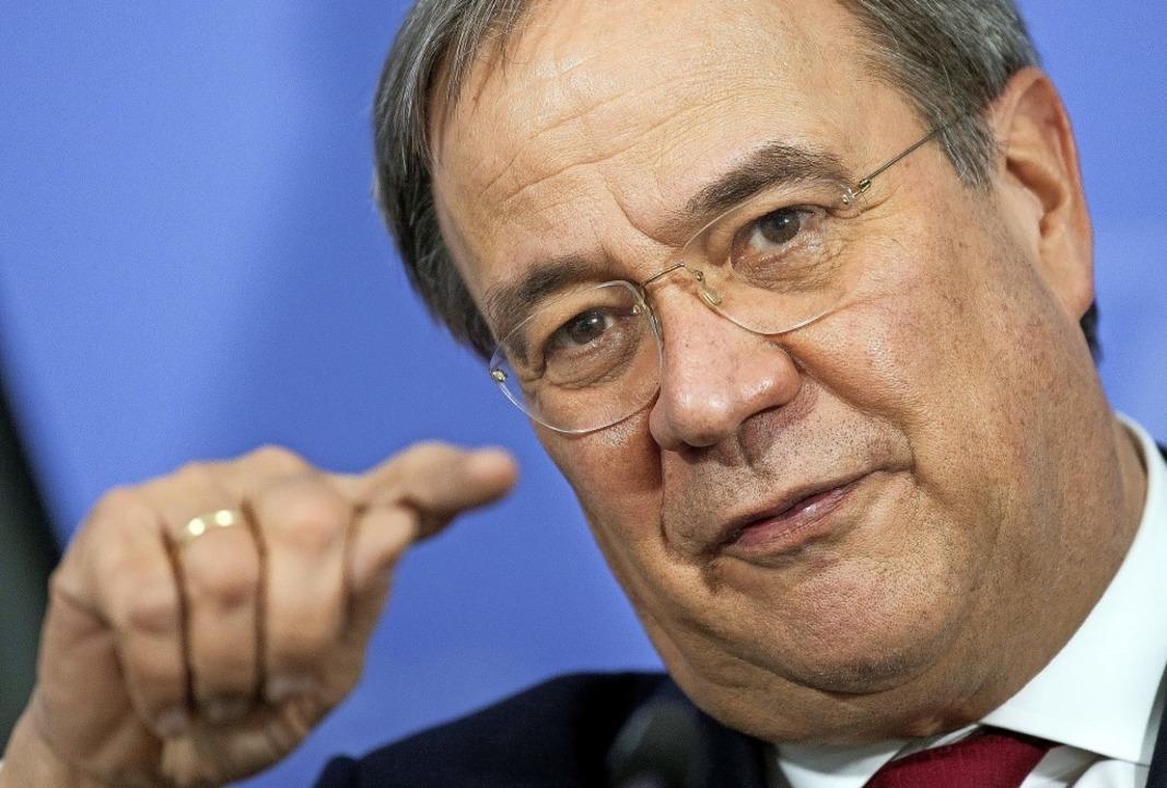 Ein Mann mit einer langen Parteikarriere: Armin Laschet   | Foto: FEDERICO GAMBARINI (AFP)