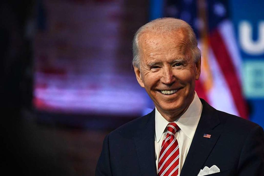 Joe Biden kann sich freuen: Auch die N...t Georgia ergab, dass er gewonnen hat.  | Foto: ROBERTO SCHMIDT (AFP)