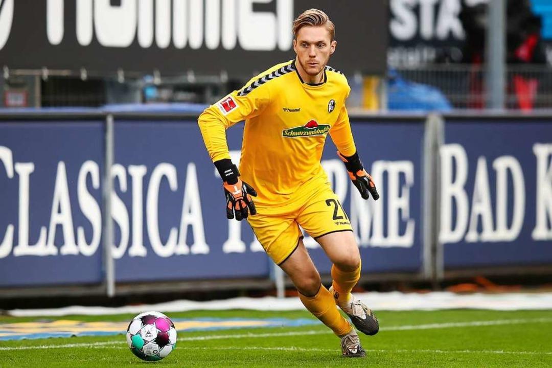 SC-Keeper Florian Müller  | Foto: Tom Weller (dpa)