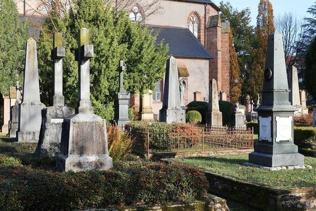 Berühmte Lahrer liegen auf dem alten Friedhof bei der Stiftskirche