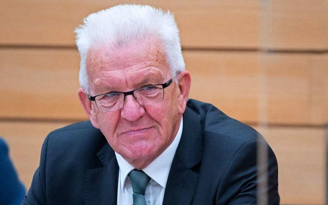 Ministerpräsident Winfried Kretschmann...seine Partei bekommen neue Konkurrenz.  | Foto: Sebastian Gollnow (dpa)