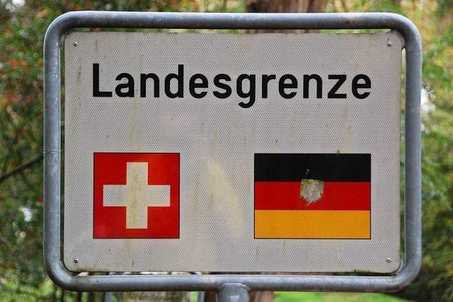 Die Grenze zwischen Deutschland und der Schweiz soll offen bleiben