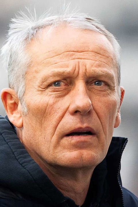 SC-Coach Christian Streich.  | Foto: Sebastian Gollnow (dpa)