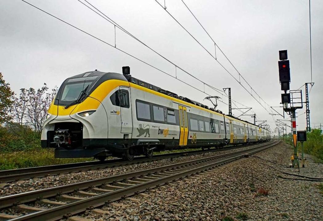 Ausgefallen: Züge des Typs Mireo, hier...f der Rheintalstrecke fielen Züge aus.    Foto: Heinz Göttlich