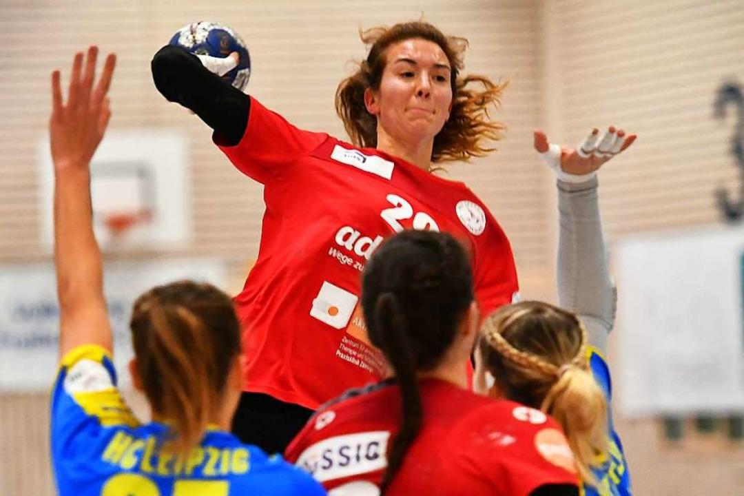 Mutig in der Schlussphase: Maja Zeides...zugunsten von Leipzig entschieden war.  | Foto: Achim Keller