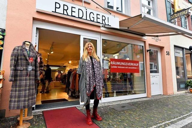 Modehändlerin Astrid Prediger hofft auf einen Neuanfang in der Freiburger Altstadt