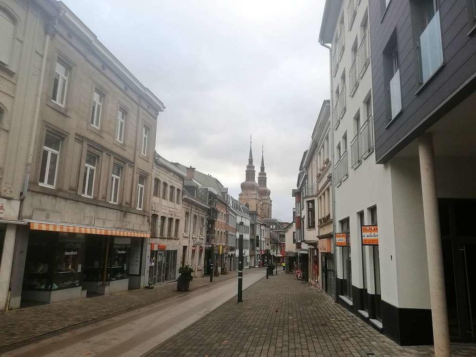 Menschenleere Straßen: die ostbelgische Stadt Eupen in diesen Tagen     Foto: Cedric Rehman