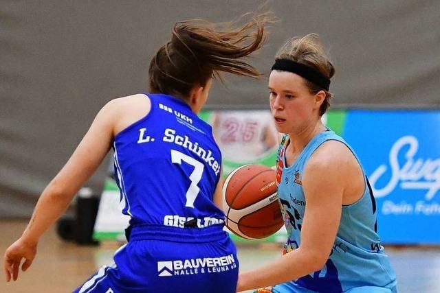 Pauline Mayer überragt beim 82:70-Sieg der Frauen des USC Freiburg gegen Halle