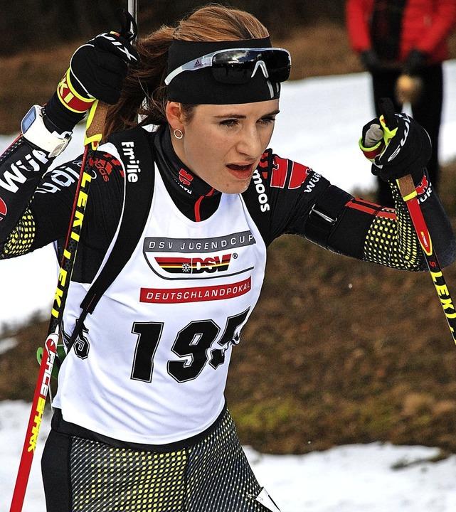 Emilie Behringer skatet gut und ist am...iorenweltmeisterschaft in Österreich.     Foto: ruoff