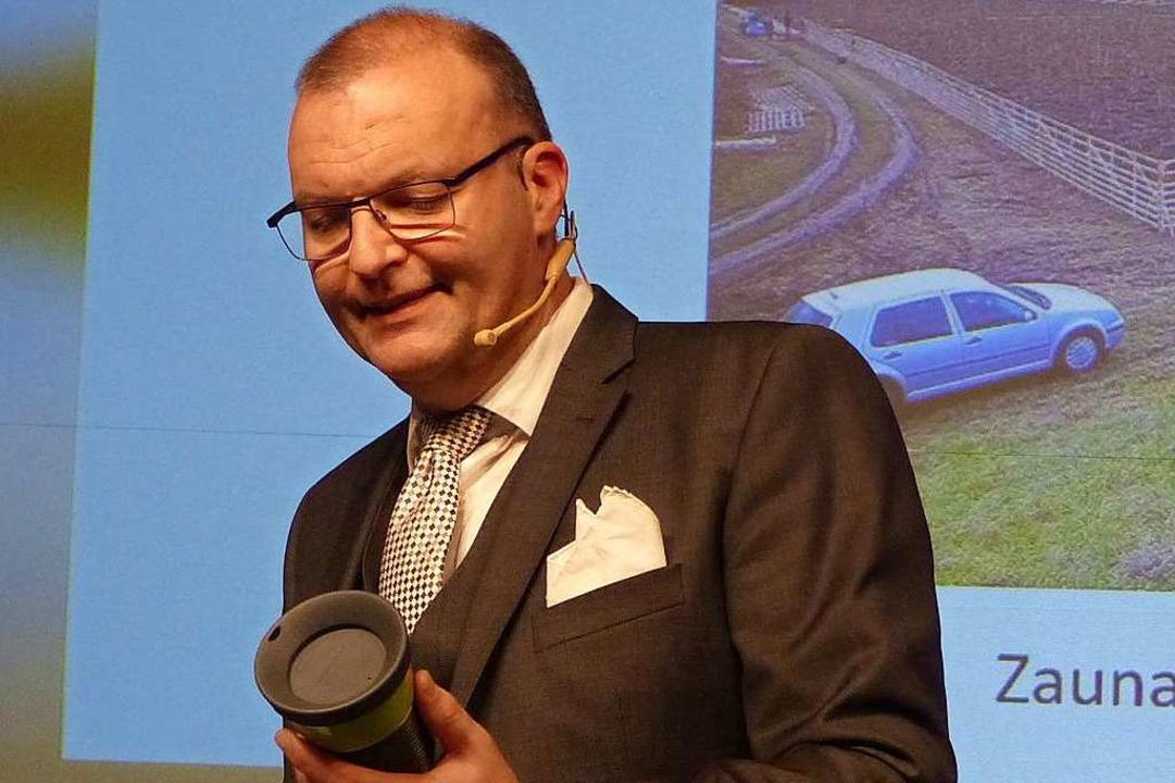 Jochen Fischer beim Neujahrsempfang im Januar 2020  | Foto: Frank Leonhardt