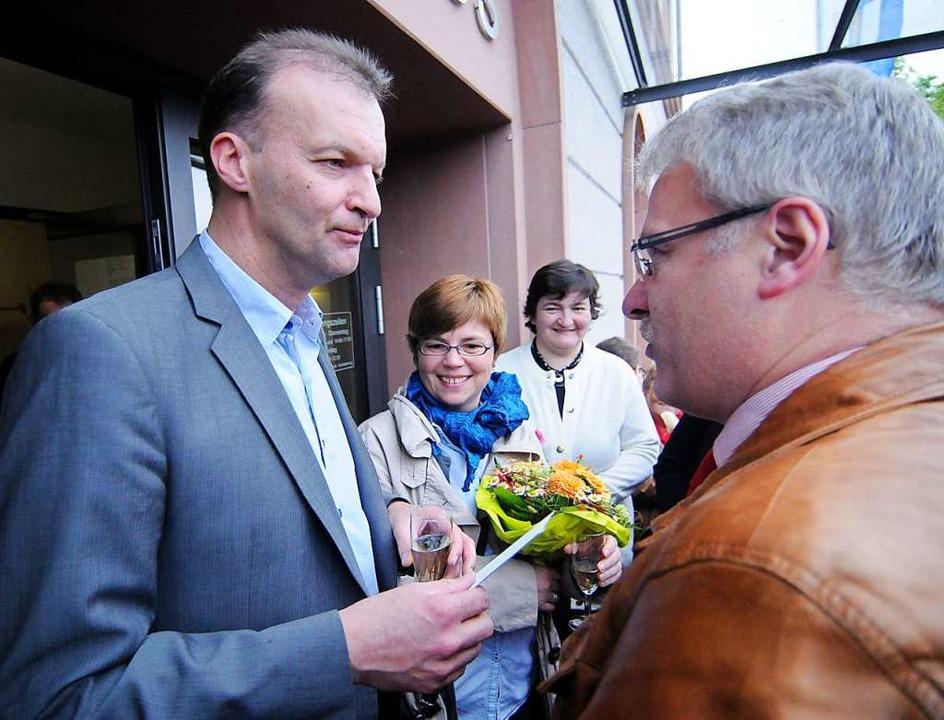 Jochen Fischer am Wahlabend im April 2013  | Foto: Wolfgang Künstle
