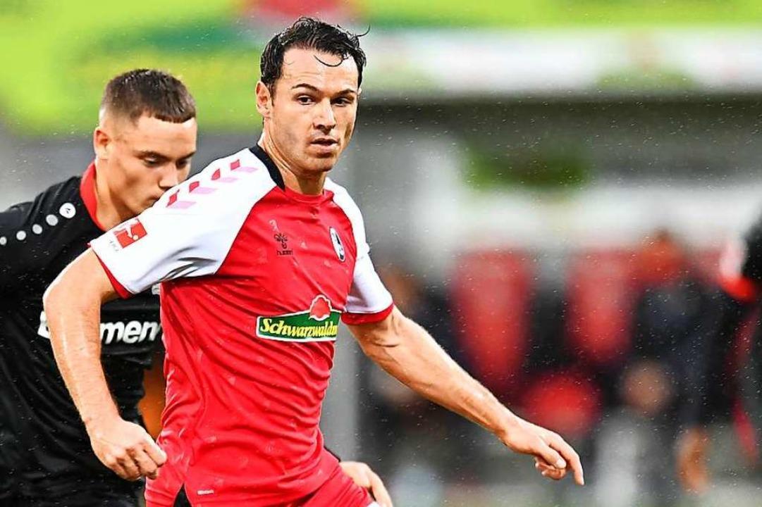 Nicolas Höfler, hier bei der Begegnung gegen Leverkusen.  | Foto: SC Freiburg/Achim Keller