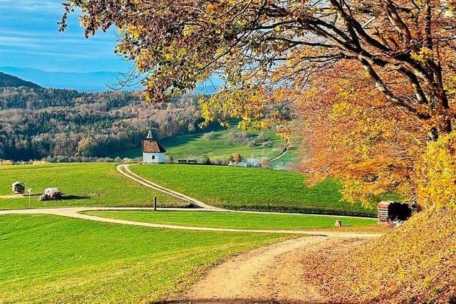 Blick auf die Saalenbergkapelle bei Sölden