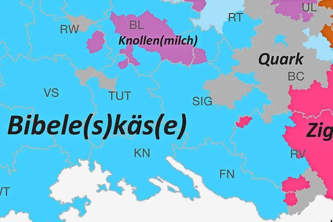 Was wo wie im Ländle heißt: Hubert Kla...r Sprachatlas gibt kompetent Auskunft.  | Foto: Pro