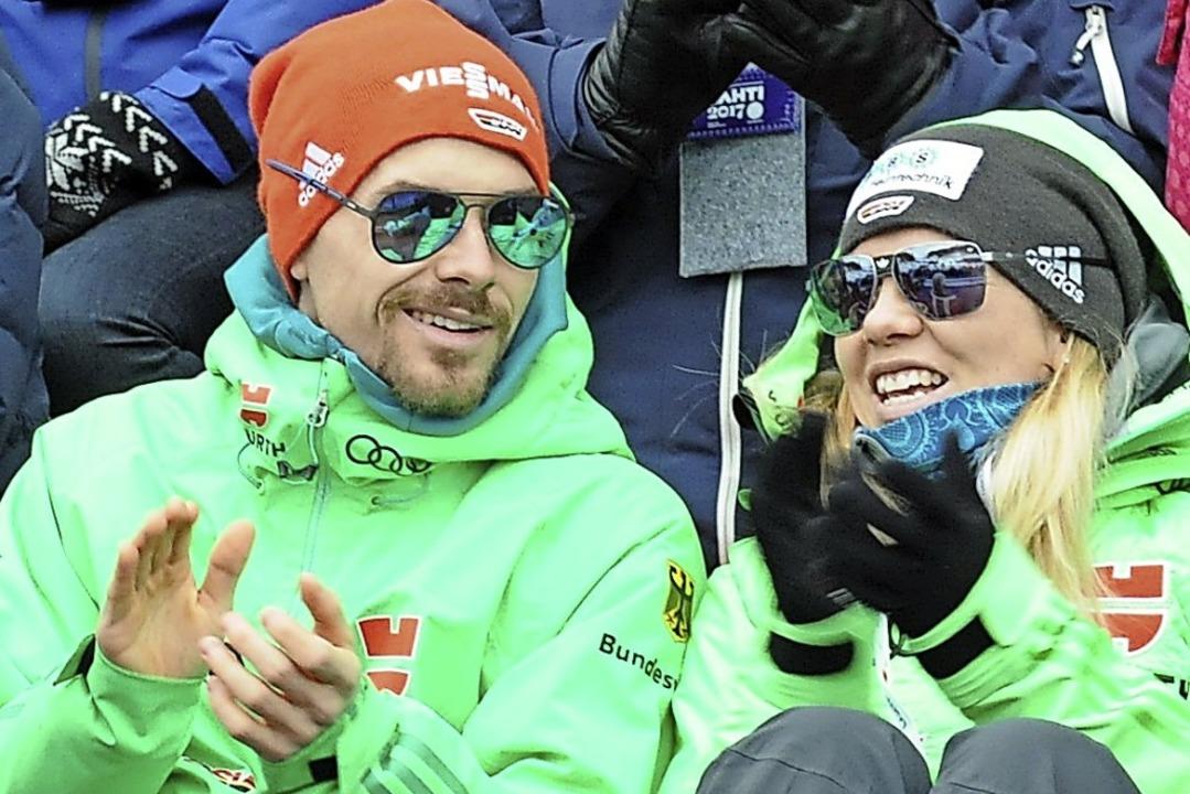 Starkes Team: Fabian Rießle, Weltklass...Sandra Ringwald, bei der WM in Lahti.     Foto: Klaus-Eckhard Jost