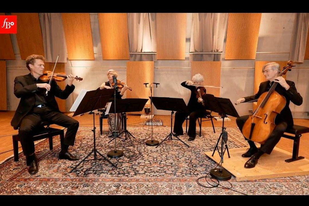 Das herausragende Streichquartett des ...m Klick zuhause auf dem Sofa genießen.  | Foto: inFreiburgzuhause - Freiburger Barockorchester