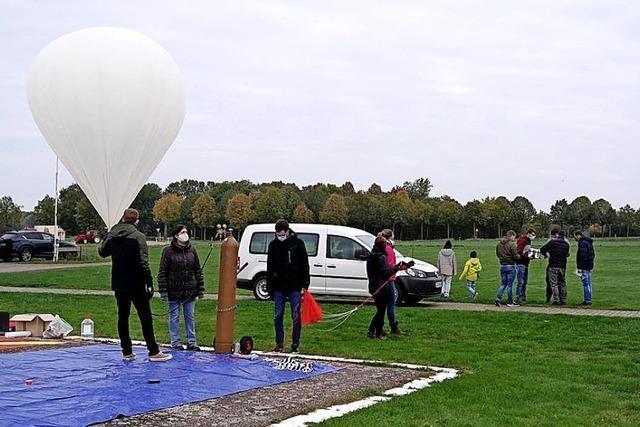 Ballon steigt bis auf 34,7 Kilometer