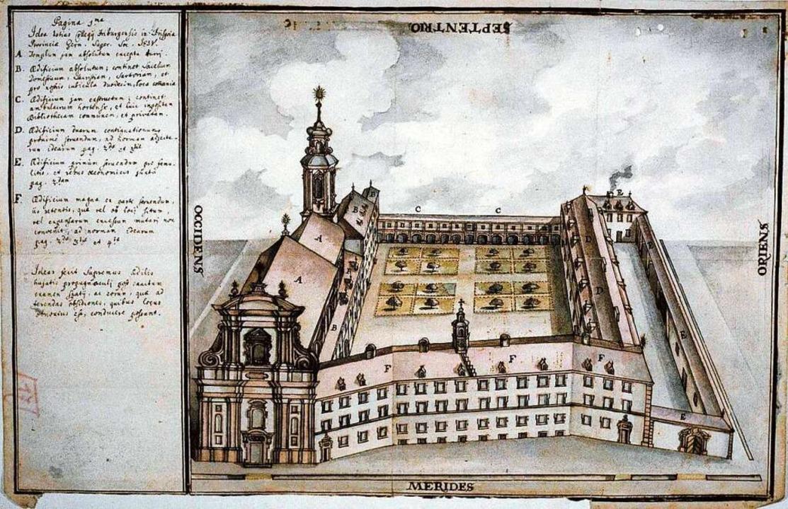 Kirche und Universität der Jesuiten im 18. Jahrhundert  | Foto: Universitätsarchiv Freiburg