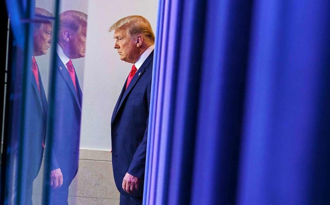 Donald Trump will zwar seine Niederlag...t aber die Übergabe der Amtsgeschäfte.  | Foto: MANDEL NGAN (AFP)