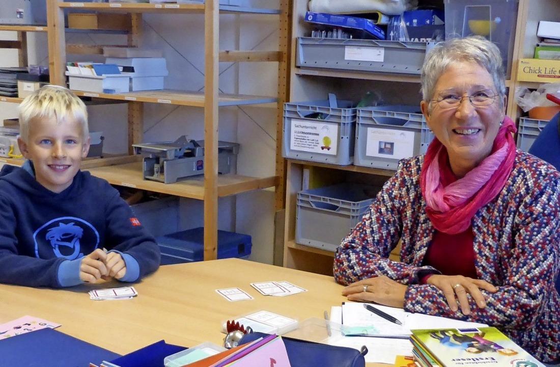 Linus Sonnenberg und Waltraud Findeisen  | Foto: Privat