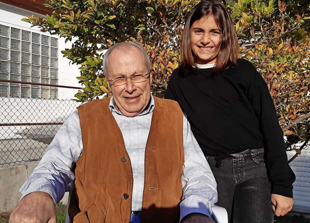 Hannah Mattmüller und ihr Opa Walter Ziegler   | Foto: Privat