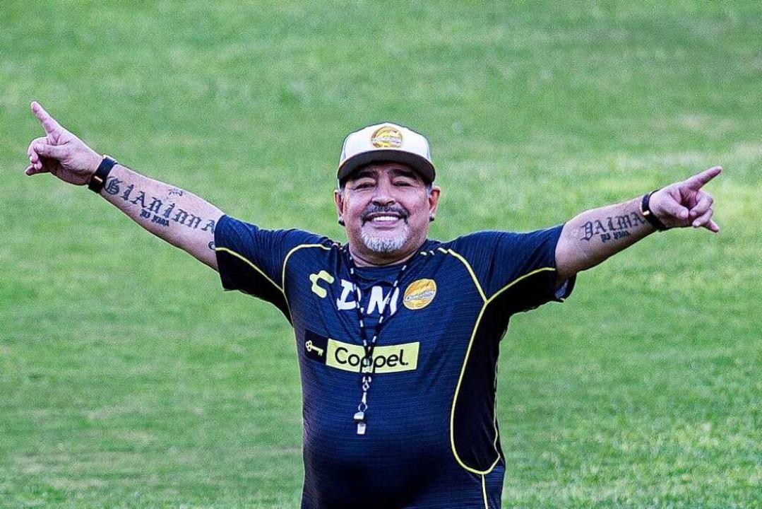 Als Trainer mit Bauch und Ausstrahlung: Diego Maradona  | Foto: PEDRO PARDO (AFP)