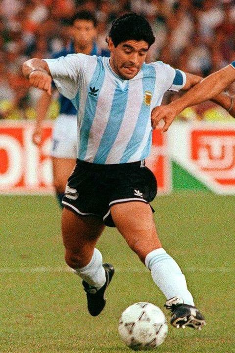 Diego Maradona – der Sensationsdribbler  | Foto: DANIEL GARCIA (AFP)