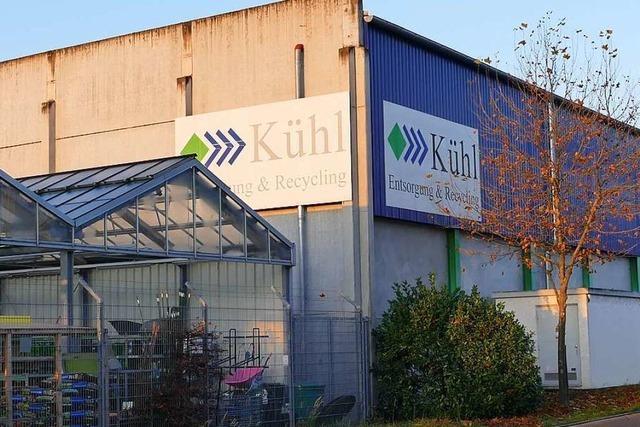 Das Recyclingunternehmen Kühl beantragt eine neue Sortieranlage für Efringen-Kirchen