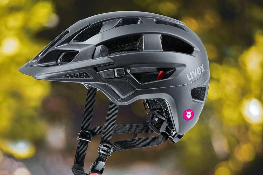 Tocsen ist ein kleiner Sensor, der an ...rt ist, wie an diesem Uvex-Enduro-Helm  | Foto: Tocsen