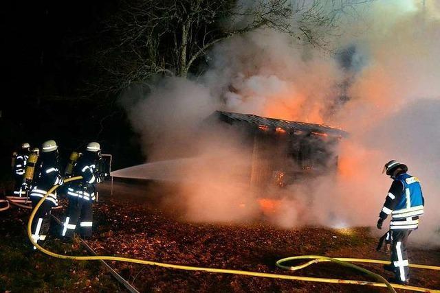Brand zerstört beliebten Jugendtreff in Friedenweiler