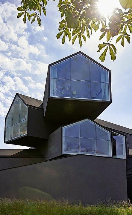 Das einzigartige Gebäude von Herzog &a...er aus aller Welt nach Weil am Rhein.     Foto: Lorenz Cugini