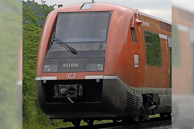 Sperrung der Bahnlinie bei Lauchringen