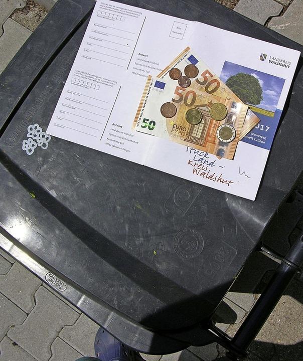 Die graue Tonne bringt das meiste Geld im Landkreis Waldshut ein.     Foto: Heinz J. Huber