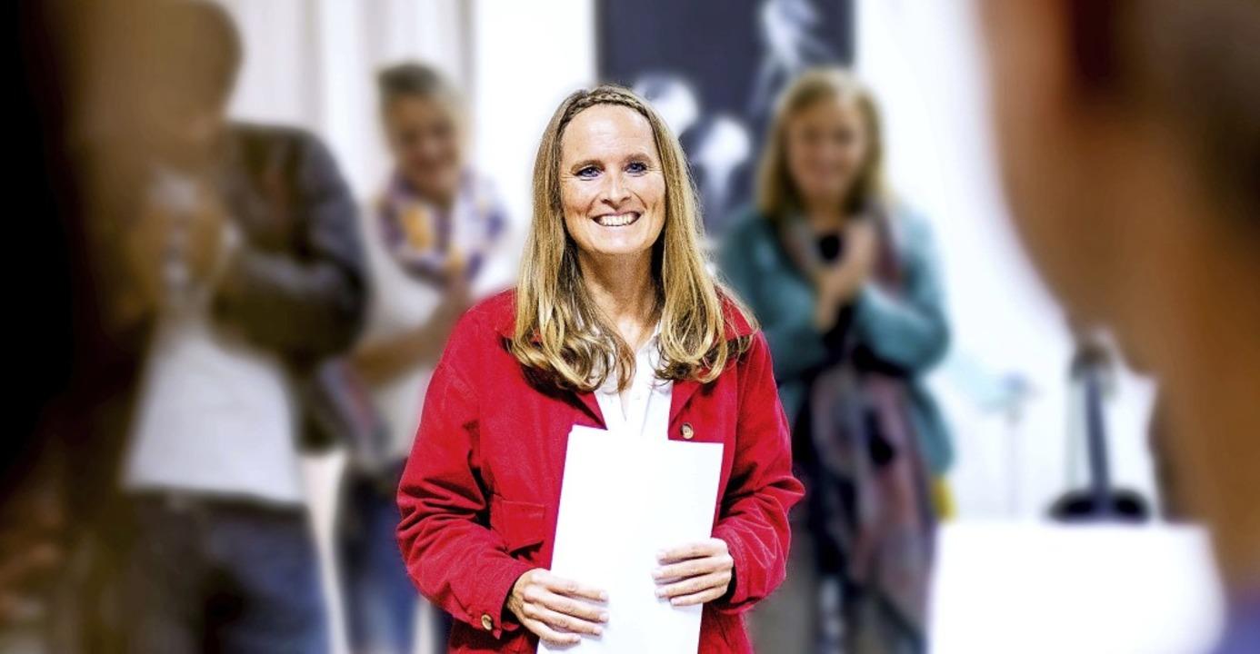 Anke Ricklefs, die neue Burgschreiberin von Laufenburg, bei einer ihrer Lesungen  | Foto: privat
