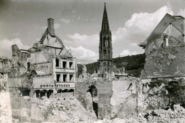 Bombenangriff 1944 zerstörte viele Freiburger Traditionsgeschäfte
