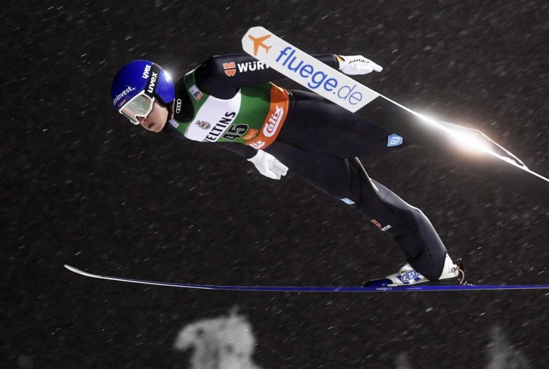 Manuel Faißt in Aktion  | Foto: Vesa Moilanen (dpa)