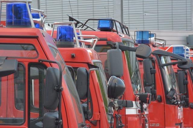 Feuerwehr löscht Dachbrand bei Evonik in Rheinfelden