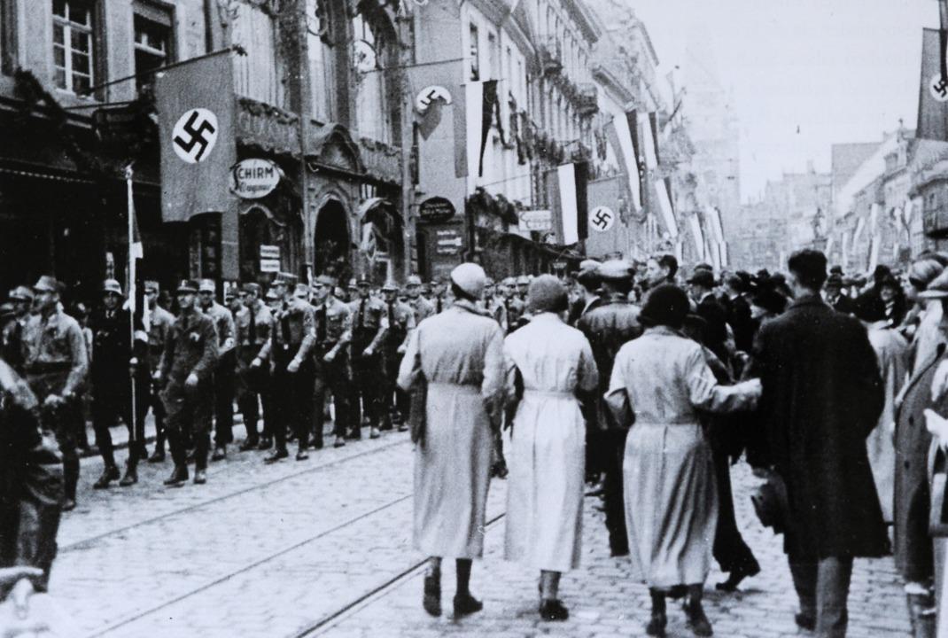 Die Freiburger Innenstadt 1933    Foto: Repro: Ingo Schneider