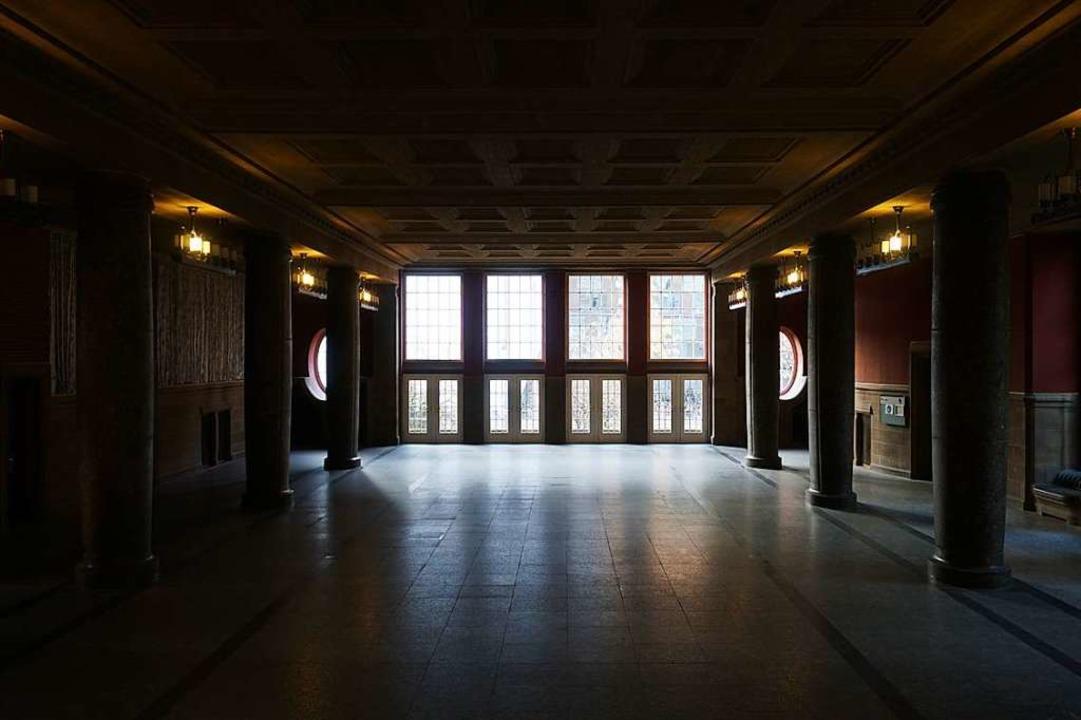 Tote Hose im Kollegiengebäude I: Hier ...n, wer in die Fachbibliotheken möchte.    Foto: Joshua Kocher