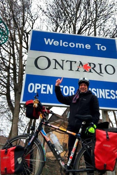 <ppp> und im kalten Kanada</ppp>.    Foto: Privat