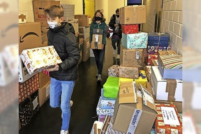 Jede Menge Pakete sind unterwegs nach Rumänien