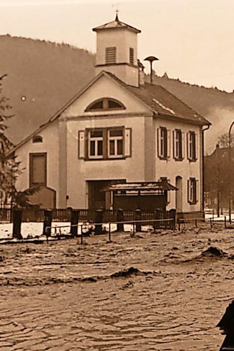 <ppp> der Hochwasserschutz in Enkenstein <ppp></ppp></ppp>    Foto: Stadtarchiv