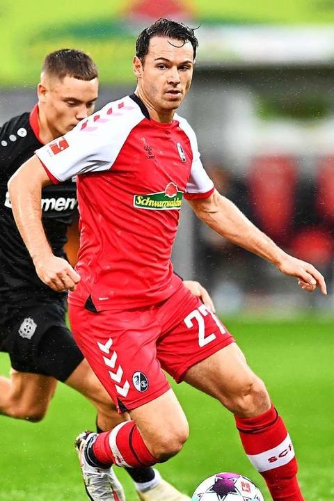Nicolas Höfler, hier im Match gegen Le...ird wohl in die Startelf zurückkehren.  | Foto: SC Freiburg/Achim Keller