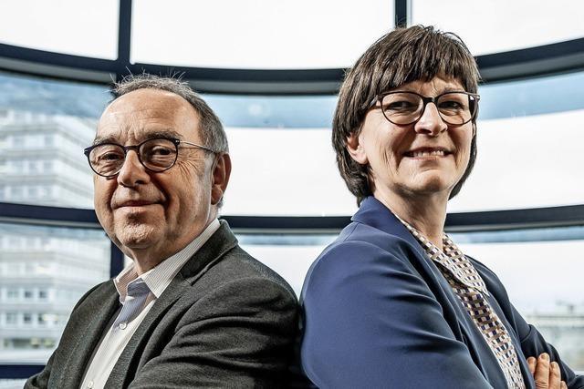 Esken und Walter-Borjans streben progressives Regierungsbündnis mit Scholz als Kanzler an