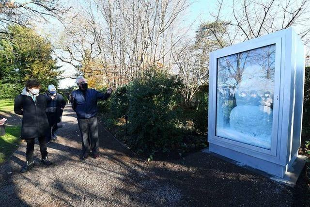 Bei der Fondation Beyeler steht nun ein Schneemann im Kühlschrank