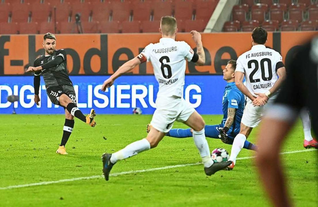Das zwischenzeitliche 1:0 von Vincenzo Grifo.  | Foto: SC Freiburg/Achim Keller