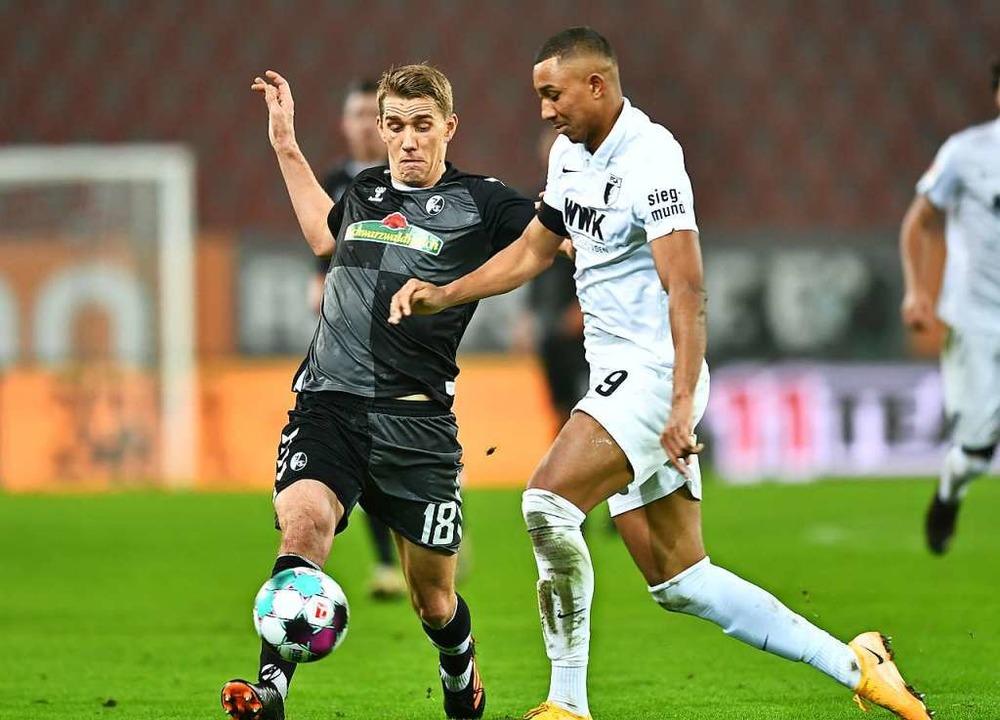 Nils Petersen hatte Mühe gegen Augsburg, in die Partie zu finden.  | Foto: SC Freiburg/Achim Keller