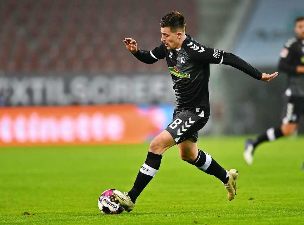 Santamaria war deutlich aktiver und stabiler als gegen Mainz.  | Foto: SC Freiburg/Achim Keller