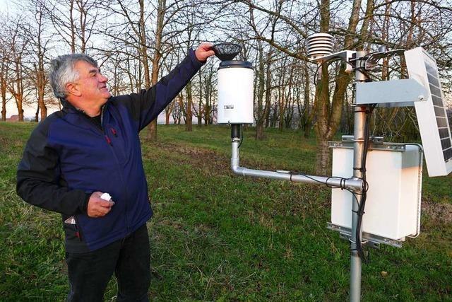 Daten einer Wetterstation helfen bei der sparsamen Verwendung von Spritzmitteln
